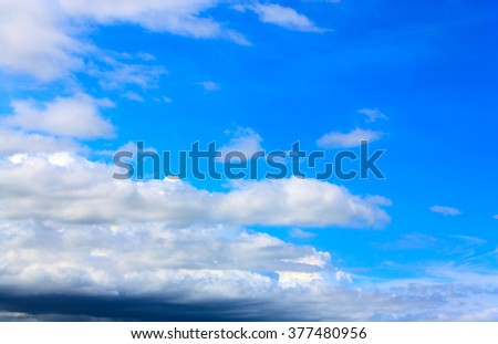 white cloud and blue sky on sunny day