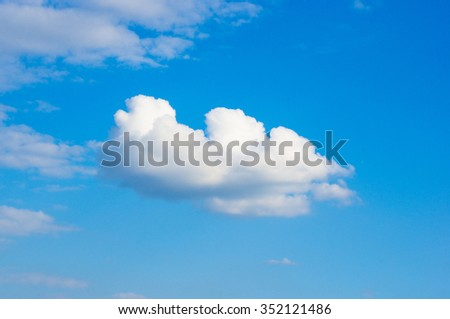 White cloud in the blue summer sky