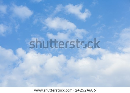 white cloud with blue sky - stock photo