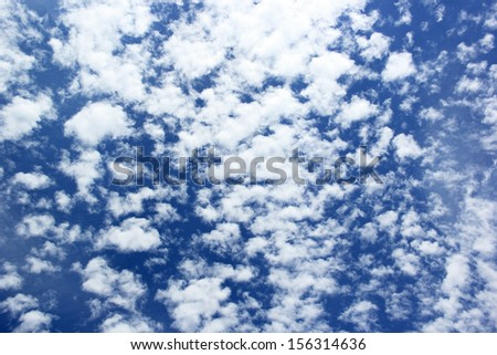White cloud with blue sky in the afternoon - stock photo