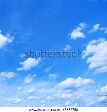 White clouds and blue sky. - stock photo