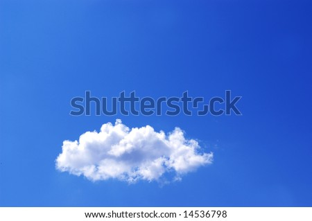 White clouds in a blue sky. Great background - stock photo