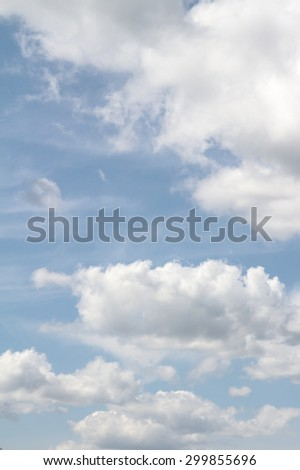 white clouds in the blue sky, wallpapers - stock photo