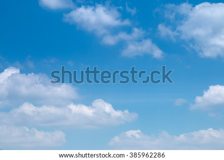 White clouds in the sky , Sky background