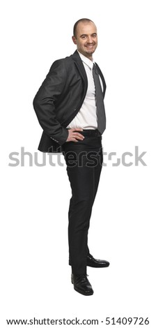 white collar worker isolated on white background