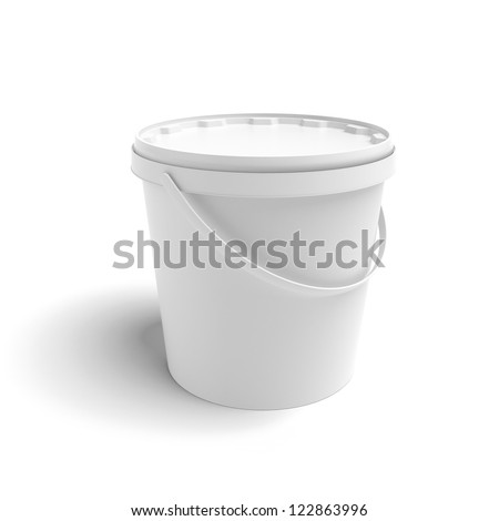 White container isolated on a white background - stock photo