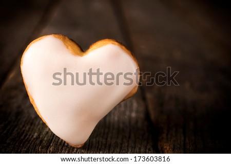 White cookies - stock photo