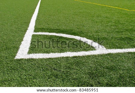 White corner marking on playing field