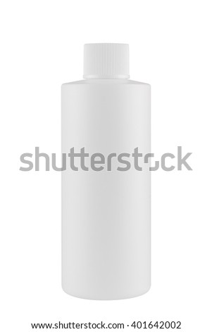 White cosmetic can, isolated