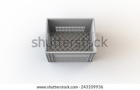 White crate box isolated on white
