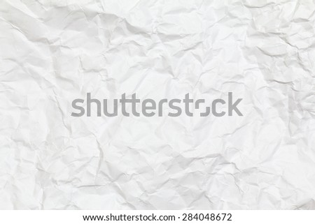 White creased paper background texture. White paper sheet. - stock photo