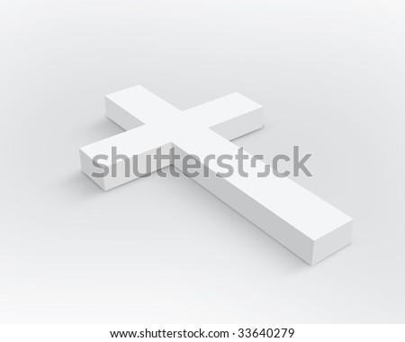 White Cross - stock photo