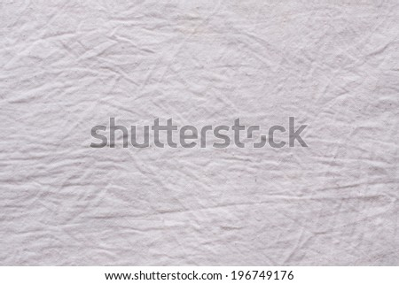 White Crumpled Fabric Texture - stock photo