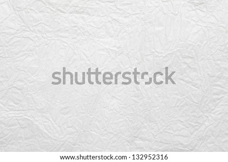 white crumpled paper background or rough texture - stock photo