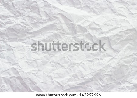 White crumpled paper texture background - stock photo
