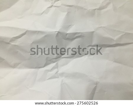 White crumpled paper texture background:wrinkle of blank empty space backdrop.rough/ragged of gray/grey colour wall:crinkle wallpaper for banner,template,design,decorate concept:vintage art pattern - stock photo