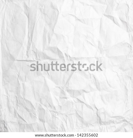 white crumpled paper texture use for background - stock photo