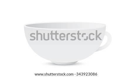 white cup - stock photo
