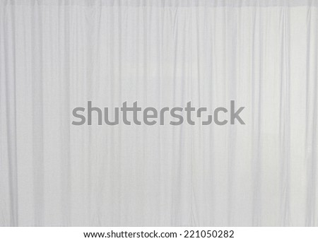 White curtain with texture background - stock photo