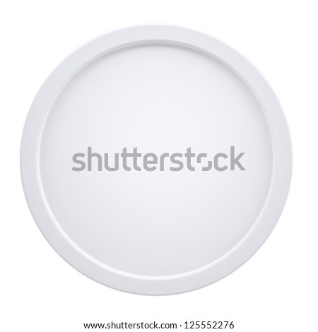 White cylindrical frame. Isolated render on a white background