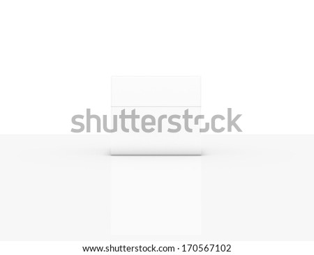 white 3d box isolated over white
