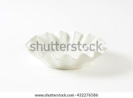 white decorative bowl on white background