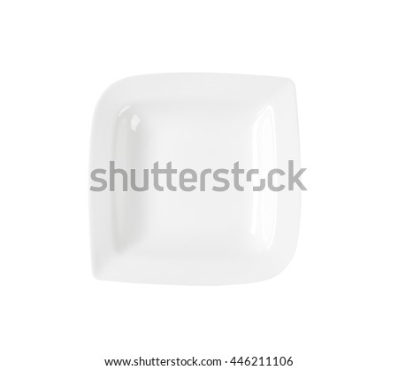 White deep wavy square porcelain plate