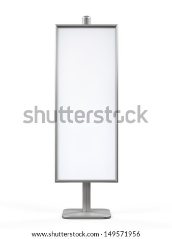 White Display Advertising Stand - stock photo