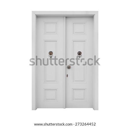 White Door - stock photo