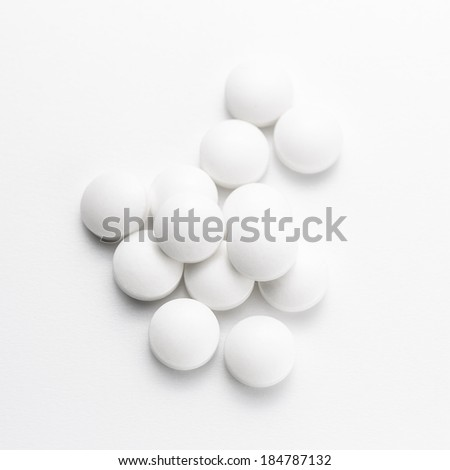 white drug pills Tablets therapy doctor flu antibiotic pharmacy medicine medical therapy - stock photo