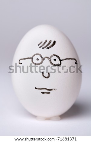 White egg in glasses - stock photo