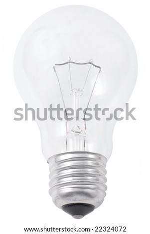 White electric lamp isolated on white background