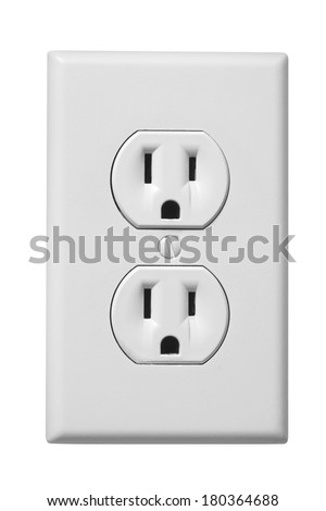 Outlet Faceplate Custom White Electrical Outlet Faceplate On White Stock Photo 180364688 Design Ideas
