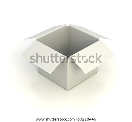 white empty box 3d illustration - stock photo
