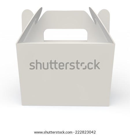 White empty box for gifts and other holiday products - stock photo