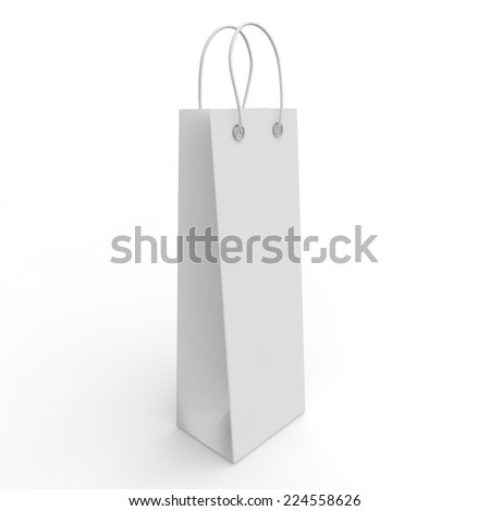 White empty package for bottles and other products - stock photo