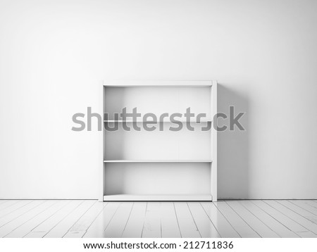 White empty rack - stock photo