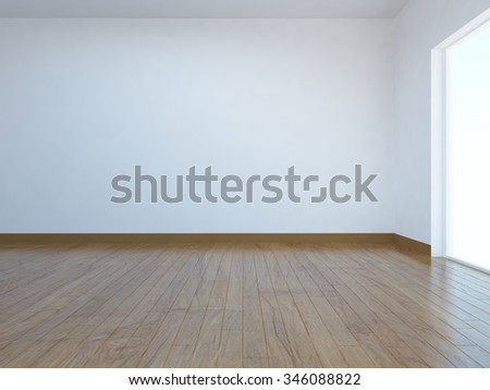 white empty room. Interior background. 3d rendering