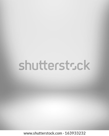 White Empty Spotlight Interior Background - stock photo