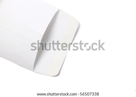 white envelope empty isolated - stock photo