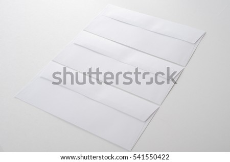 White envelope letters.
