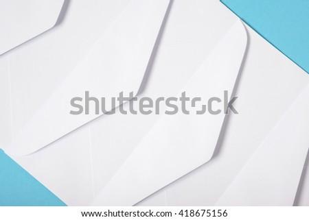 White envelopes texture background - stock photo