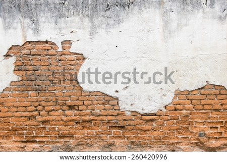 white exposed brick concrete wall. - stock photo