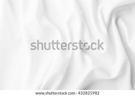 white fabric texture background,crumpled fabric  - stock photo