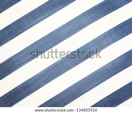 White  fabric texture with diagonal stripes. Close up - stock photo