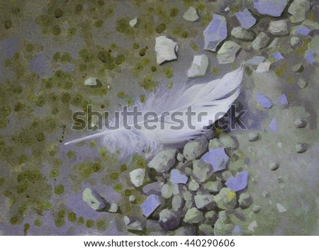 White feather. picture - stock photo