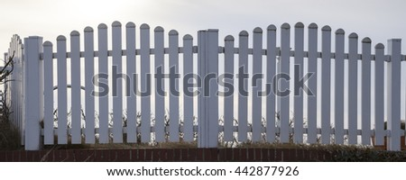 White fence, Norderney, Lower saxony, Germany, Europe