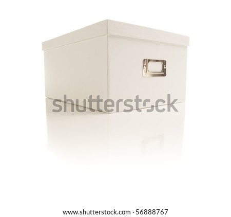 White File Box Isolated on a White Background. - stock photo