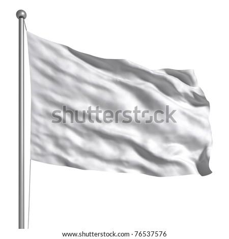 White flag - stock photo