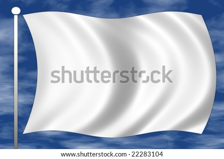 white flag of surrender - stock photo